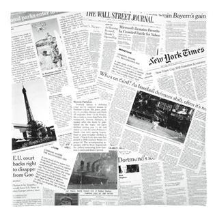 NEWS Fedtabsoberende papir, Firkantet